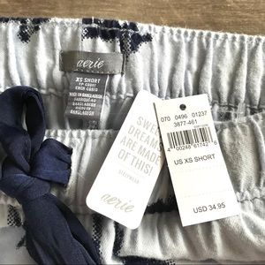 aerie Intimates & Sleepwear - NWT Aerie XS Short Blue Deer Soft Pajama Pants